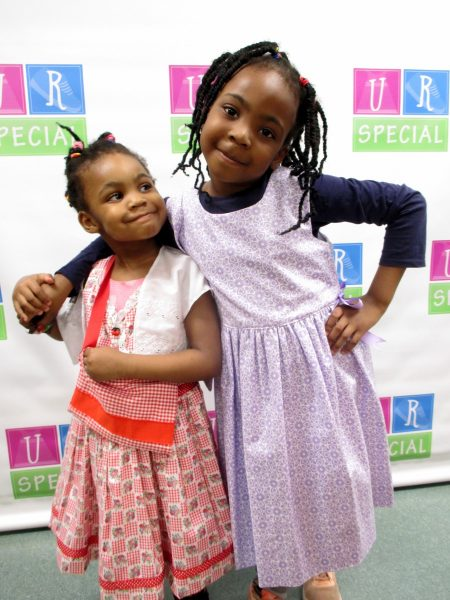 1 - Two girls with dresses