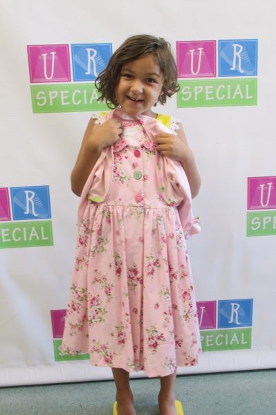 11 - Girl with her new pink dress
