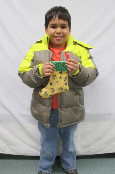 12 - Little boy with his new coat