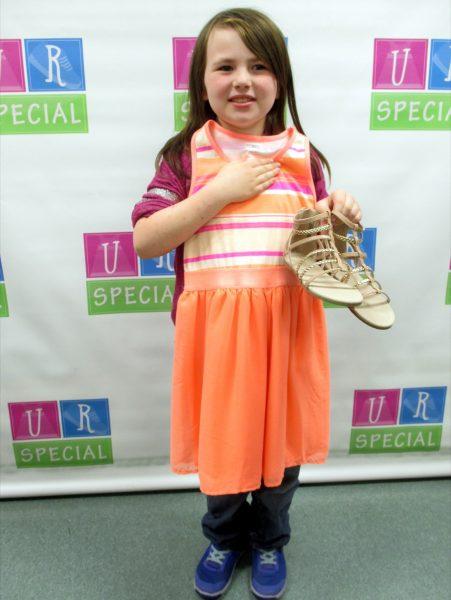 13 - Girl with her new orange dress