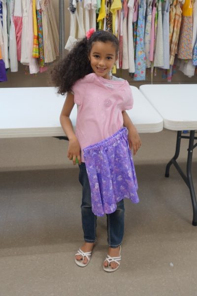 2 - Girl proud of her new clothes