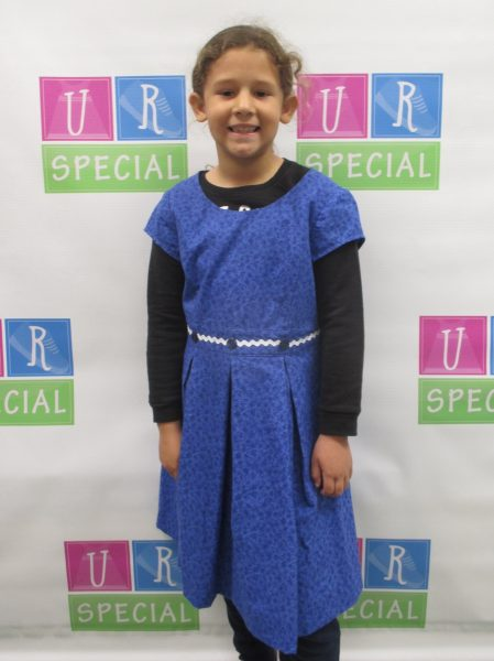 20 - Girl with her new blue dress