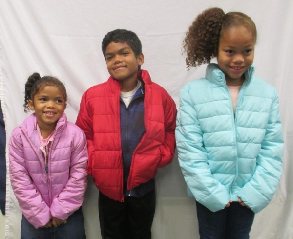 3 - 3 children in new coats