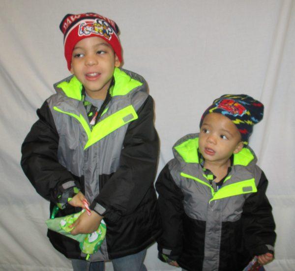 4 - 2 siblings in new coats