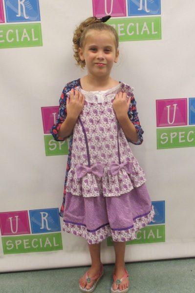 5 - Girl with purple dress