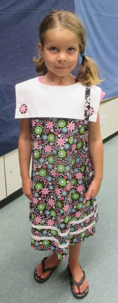 6 - Girl with her new flower dress