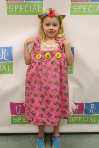 7 - Girl with pink butterfly dress