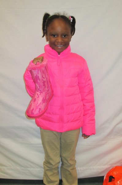 8 - Proud little girl with her new ping coat and boots