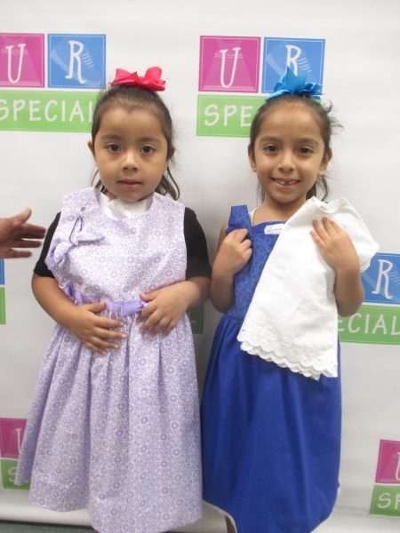 Two girls with their new clothes